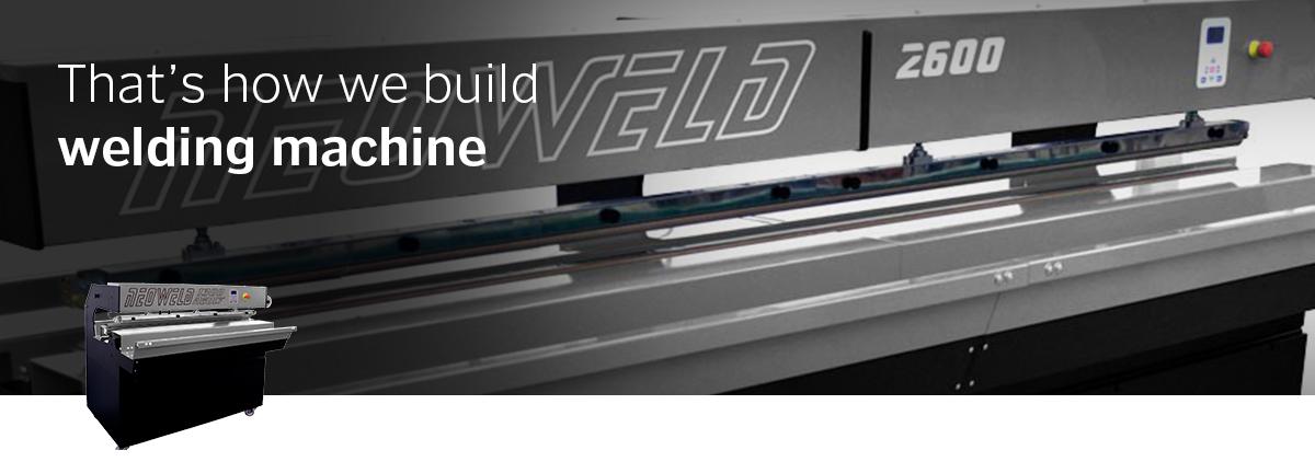 Neoweld 130/260 La saldatura di teli in PVC e tessuti è facile, compatta ed economica